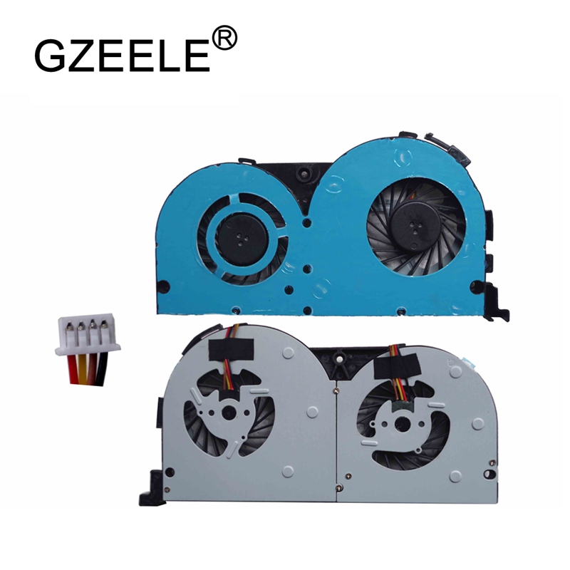 GZEELE NEW Laptop Cpu Cooling Fan Fit For Lenovo Y50-70 Y50-70AS Y50-70AM Y50-50 Y50P-70 Notebook 4 Pins Cooler Fan