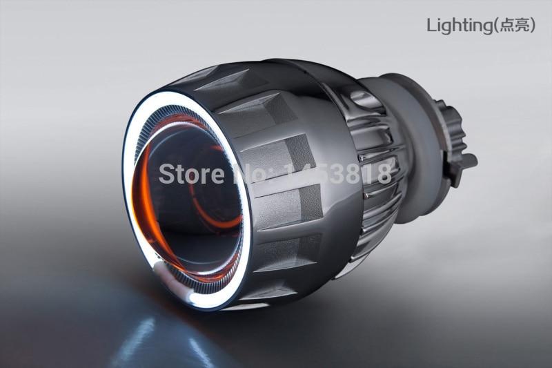 JGAUT 2GE Xenon 2.5 ''pouces 35 w H1 H4 H11 9005 9006 H7 Kit de lentilles de projecteur Hid rouge jaune blanc bleu Angel eye