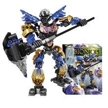 цена на BIONICLE 143pcs Light Onua Earth figures 611-2 Building Block toys Compatible legoings BIONICLE Gift DBP467