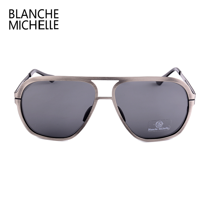Image 5 - Blanche Michelle 2019 High Quality Stainless Steel Polarized sunglasses Men UV400 Square Sun Glasses lunette soleil homme-in Men's Sunglasses from Apparel Accessories