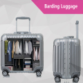 2016 New Fashion Aluminum frame  +PC Rolling Luggage  Spinner Wheels 17 Inch  Boarding Box Cartoon Travel Bag  Suitcase Card