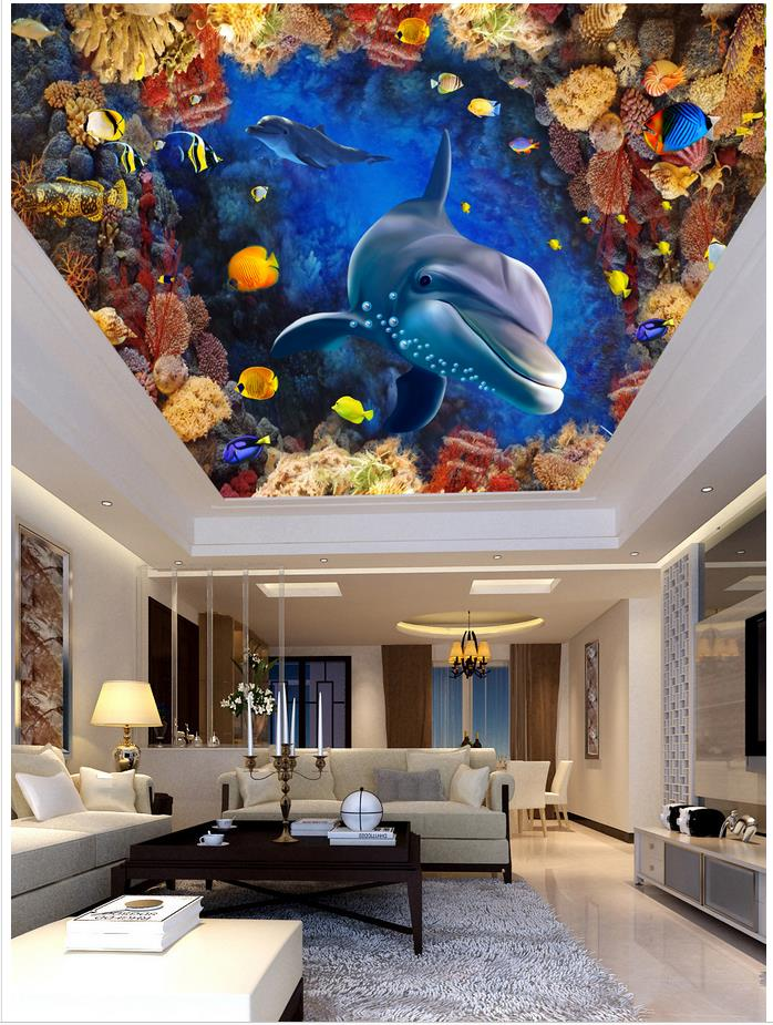 3d Wallpaper Custom 3d Ceiling Wallpaper Murals