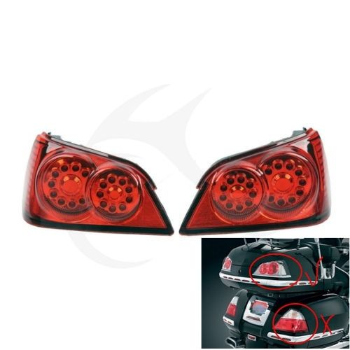 Red LED Brake Turn Signal Tail Light Trunk For Honda GOLDWING GL1800 01-12 motorcycle trunk tail light brake turn signals with led case for honda goldwing gl1800 2006 2011