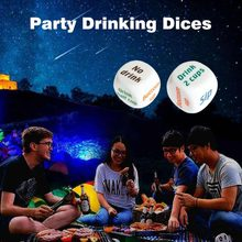 1 Pair Drinking Wine Mora English Dice Games Gambling Adult Sex Game Lovers Bar Party Pub Drinking Decider Fun Toy(China)