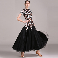 Holographic Ballroom Dance Competition Dresses For Women Waltz Performance Dress Clothing Lady Modern Costumes For Dances DWY658