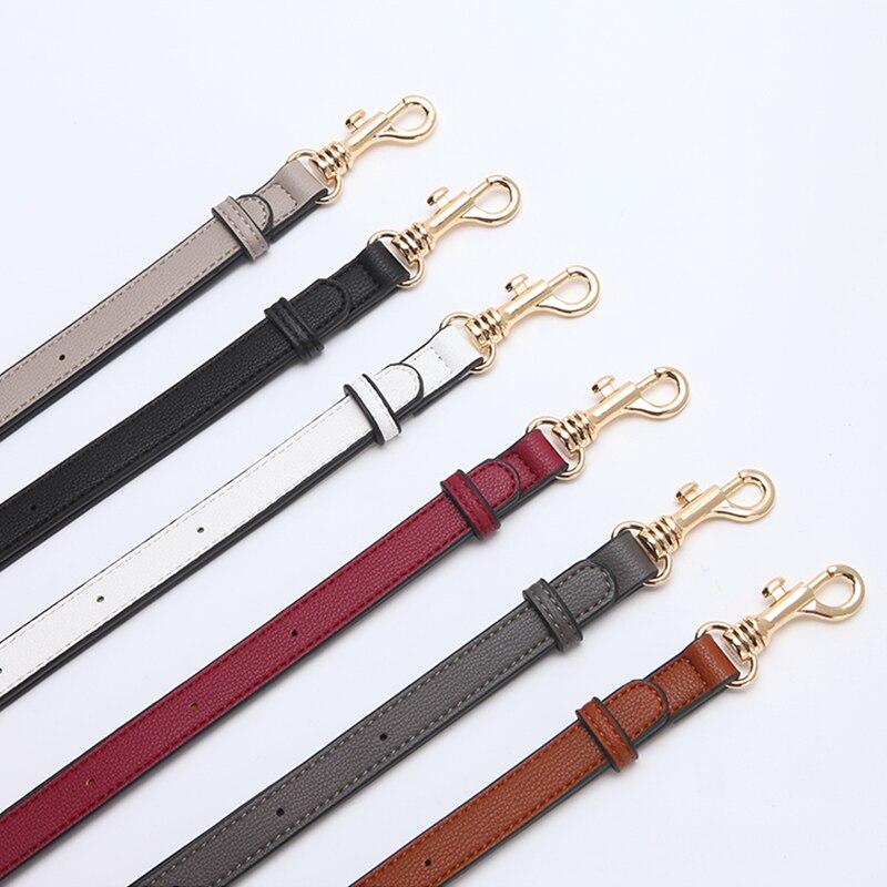 Long Narrow Replacement Shoulder Bag Strap For Women Leather Vintage Replacement Handbag Belt PU 6 Colors Bag Parts Accessories