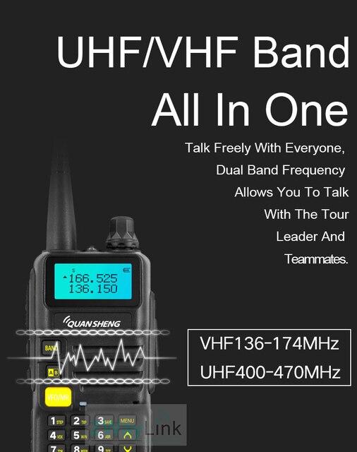 QuanSheng UV-R50 TG-UV2 Walkie Talkie UHF VHF 5W Two-way Radio 3300mAh Portable Quansheng UV-R50(-1) Ham Radio TG-UV50R 1