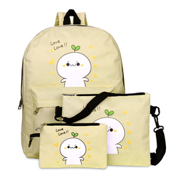 4171P eric women canvas backpack style school Lady girl student school bag