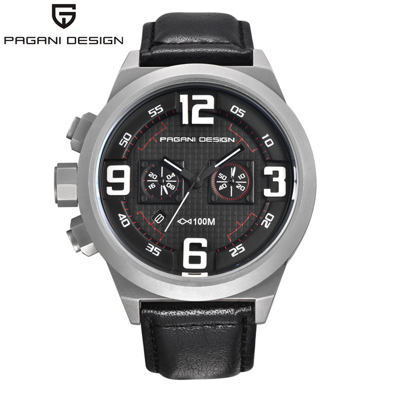 PAGANI DESIGN Chronograph Quartz Watch Men Sports Waterproof Mens Watches Top Brand Luxury Military Male Clock erkek kol saati luxury brand pagani design waterproof quartz watch army military leather watch clock sports men s watches relogios masculino