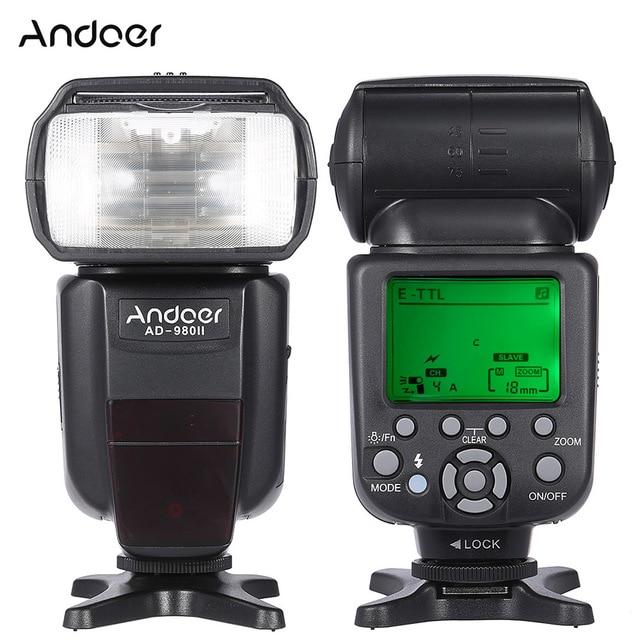 Andoer AD 980II E TTL HSS 1/8000s Master Slave GN58 Flash Speedlite for Canon 5D Mark III/5D Mark II/6D/5D DSLR Camera