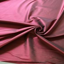 100cm*114cm Pure silk wedding dress fabric yarn dyed silk dupion material burgundy black