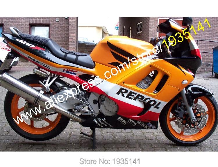 Горячие продажи,скидки обтекатель Комплект для Honda CBR600 F3 в 97 98 ЦБ РФ 600 1997 1998 Репсол спортивный мотоцикл Зализа (литья под давлением)