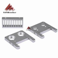 Ücretsiz kargo 3D yazıcı parçaları UM2 Ultimaker2 Ekstruder hotend setleri ısı emici alüminyum alaşım blok parçaları