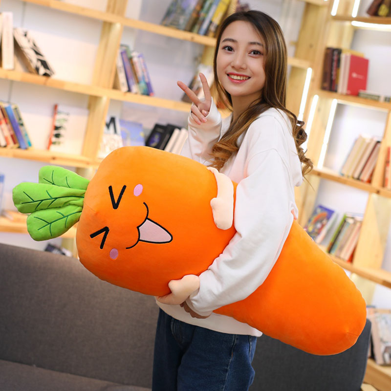 1pc 60/75/100cm 4 Patterns Cartoon Carrot Pillow Carrot Toys simulation radish doll Lovely style brinquedos Home Pillow Cushions