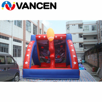 4*2*2m inflatable soccer gate cheap price PVC football darts high quality indoor inflatanle soccer target with free air blower