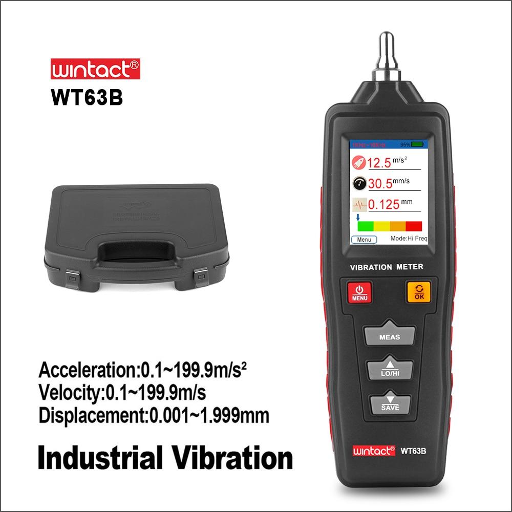 Analizador de Vibraciones WINTACT Analisador de Vibração Vibrador Vibração Digital Medidor Tester Medidor Handheld WT63B Vibraciones
