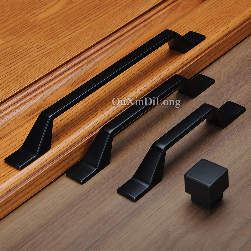 Classic Black 10PCS European Solid Zinc Alloy Kitchen Cabient Door Handles Cupboard Wardrobe Drawer Cabinet Pulls Handles&Knobs hot 10pcs furniture handles european antique zinc alloy drawer cupboard kitchen cabinet door handles