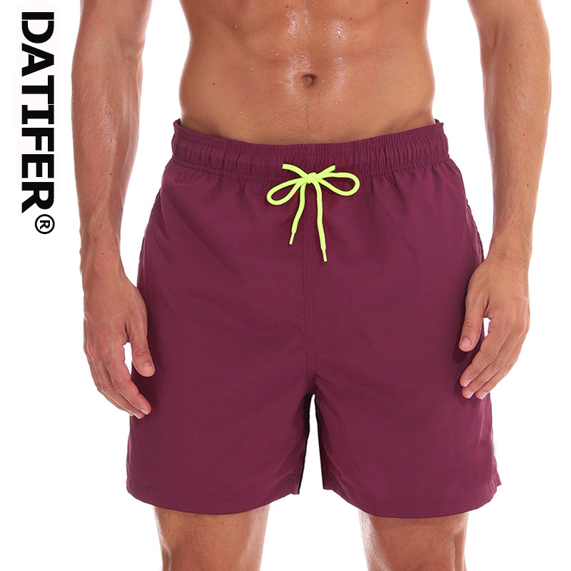 Datifer Brand Men   Board     Shorts   Surfing Swimming Trunks Running Swimsuit 2019 Beach Shors Plus Size XXXL Waterproof Swimwear ES5F