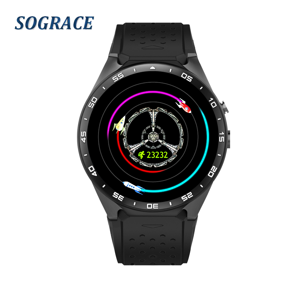 SOGRACE Smart Watches 2018 Smartwatch Smart-Watch KW88 Sleep Tracker Life Waterproof Connect Android Watch Y119 sograce smart watches 2018 kw88 heart rate tracker android smart watch music phone camera smart watch 35