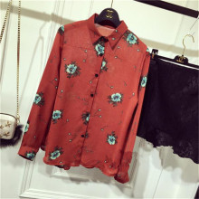 Blusa feminina,Summer Long Sleeve Women blouse,fashion Floral Print New blusa,casual Shirt Tops,5XL Blouse Female Tops TT1182