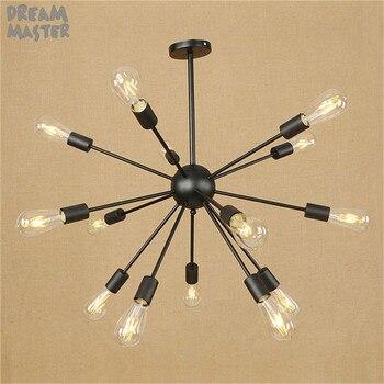 Винтажный подвесной светильник паук, светильник, лампа, лофт E27, промышленное освещение, Ретро стиль, Подвесные Светильники для дома 110 В 220 В