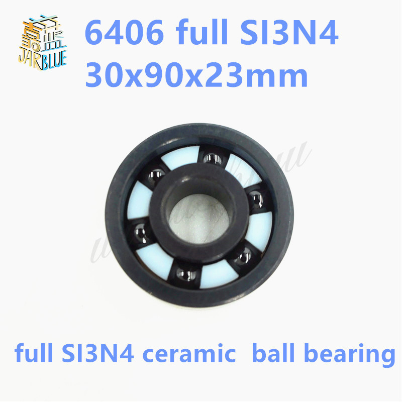 Free shipping high quality 6406 full SI3N4 ceramic deep groove ball bearing 30x90x23mm free shipping 6814 full si3n4 ceramic deep groove ball bearing 70x90x10mm high quality