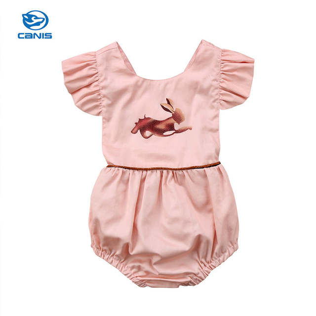 986cebf2a3e placeholder Baby Costume Newborn Kids Baby Girl Pink Animal Sleeveless  Romper Jumpsuit 2018 Summer Fashion Cute Baby