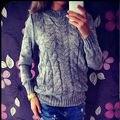 2016 Новая Мода зима Женщины С Длинным Рукавом Свободные Свитера Трикотажные Пальто Вскользь 2 цвета горячей продажи