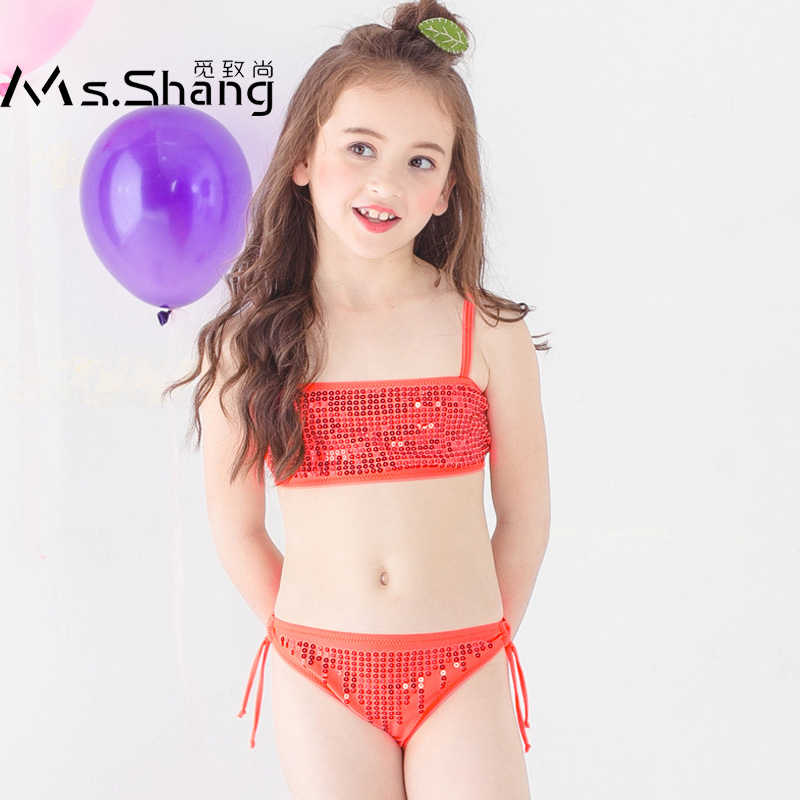 567e7b3617 Baby Girl Bikini 2019 Kids Swimming Suit for Girls Bling Bathing Suit  Children Two Pieces Swimwear