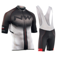 NW 2018 New Cycling Jersey Short Sleeve Summer Breathable Bib Shorts Bicycle Clothes Quick Dry Roupa