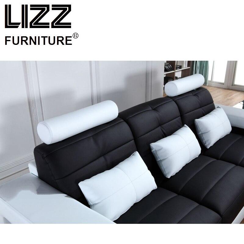 Sofás de esquina Sets para salón sofá Seccional de cuero moderno con ...