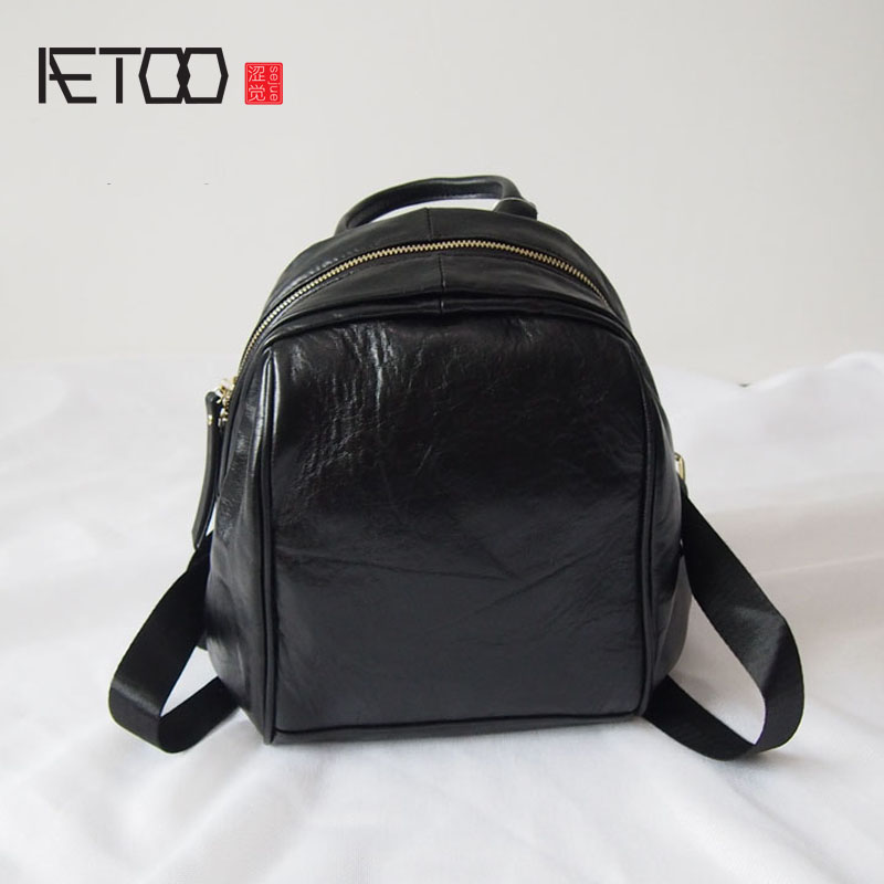 AETOO Backpack female Korean version of the limelight walnut travel bag wild small fresh leather students large capacity package oxford bag korean version of the female students shoulder bag large capacity backpack canvas backpacks