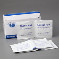100PCS BOX Sterilized Surgical Alcohol Pads Portable Wipes Swab Antiseptic Skin Cleanser For Tattoo Cleaning Products