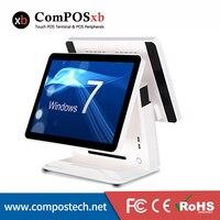 Электронный кассовый аппарат POS машина с двойной Экран 15 ЖК дисплей монитор для POS все в одном