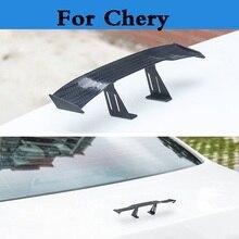 2017 New Car Mini Wing Small Model GT Carbon Fiber Decoration stickers for Chery M11 Oriental Son QQ6 Sweet Tiggo Tiggo 5 Very