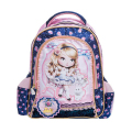 New arrival Fashion  cartoon Girl's backpack kid school bags blue bag backpacks student lace  lovely bag