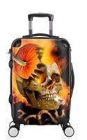 Креативный 3D череп Скалка багажа Спиннер 28 дюймов чемодан колеса 20 дюймов черная тележка для каюты Высокая емкость дорожная сумка