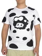 brdwn Hitman Reborn! Cosplay Lambo Dairy Cow Short-Sleeved T-Shirt Tee Shirt Tops