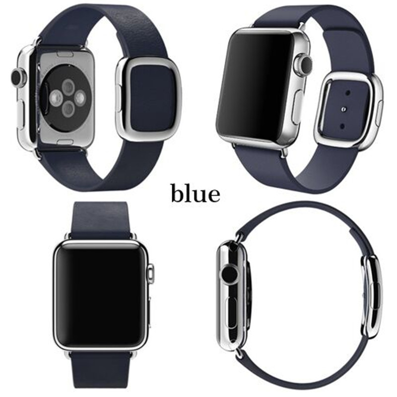 Original Bracelet Modern Buckle Strap Magnetic Closure Genuine Leather Wrist Band For Apple Watch for iWatch 42mm 38mm Watchband