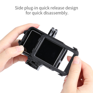 Image 5 - PGYTECH אוסמו פעולה DJI אוסמו פעולה ספורט מצלמה מקרה כיסוי מקרה פגז חצובה מיני Selfie מקל מיקרופון LED אור Accessorie
