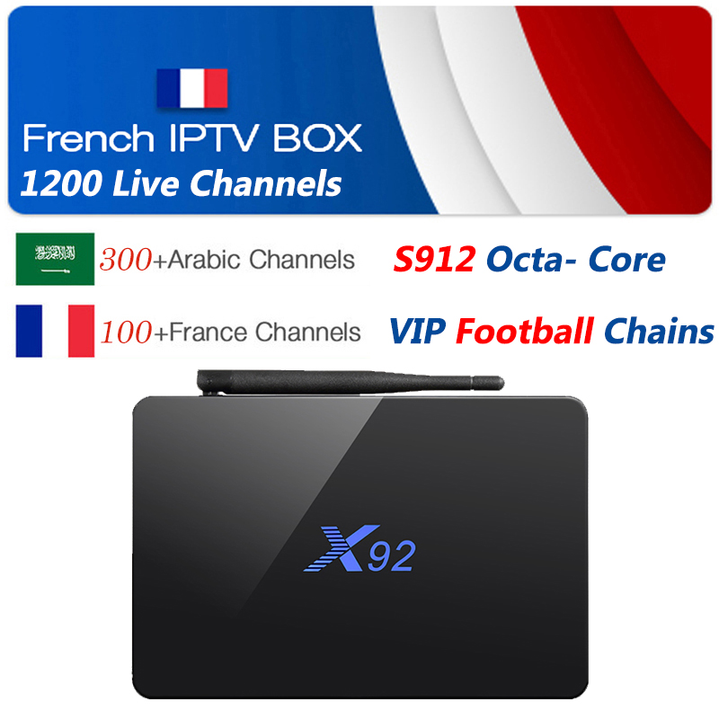 iptv france X92 android tv box + 1 Year Iptv subscription 1300 NEOTV code french Arabic Belgium Morocco chains vod for smart tv french iptv box android tv box with 1year 1300 arabic france iptv belgium code live tv