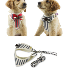 Pet Walking Harnesses Dog Harness Nylon Breathable Puppy Vest Leash Set For Chihuahua Small Dogs Cat Collars