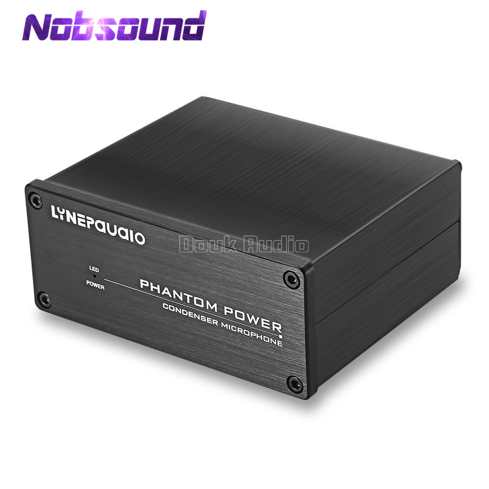 Nobsound Mini 1-Channel 48V Phantom Power Supply Source to Condenser Microphone Music RecorderNobsound Mini 1-Channel 48V Phantom Power Supply Source to Condenser Microphone Music Recorder