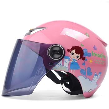 2018 Sommer Kinder Kinder Motorrad Helm Für Jungen Mädchen, ABS Halbe Gesicht Motorrad Elektrische Fahrräder Für Größe S
