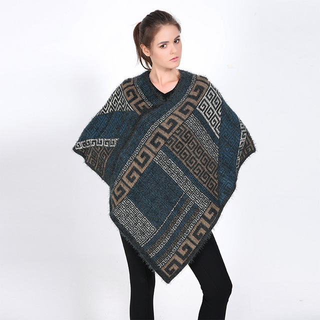 Ethnic Pullover Poncho Winter Blanket Scarf Shawls Ponchos and Capes Pashmina Shawl Cashmere Patterns Scarves