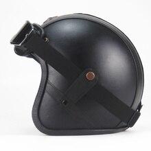 Bike helmet open face vintage motorcycle