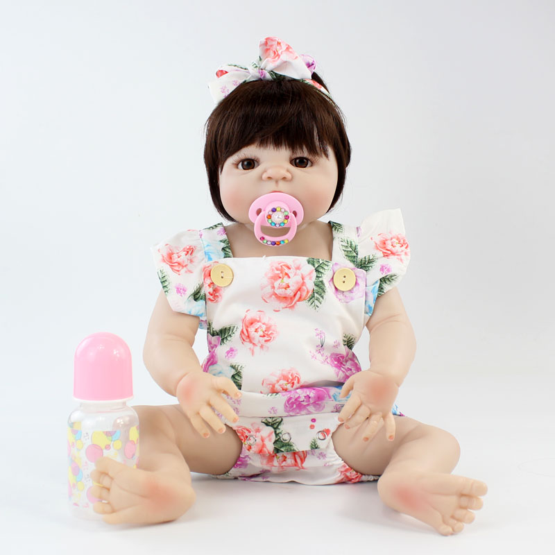 NPKCOLLECTION 22 Full Silicone Newborn Baby Girl Realistic Reborn Doll Baby Princess Lovely Bebe Boneca Alive Bedtime PartnersNPKCOLLECTION 22 Full Silicone Newborn Baby Girl Realistic Reborn Doll Baby Princess Lovely Bebe Boneca Alive Bedtime Partners