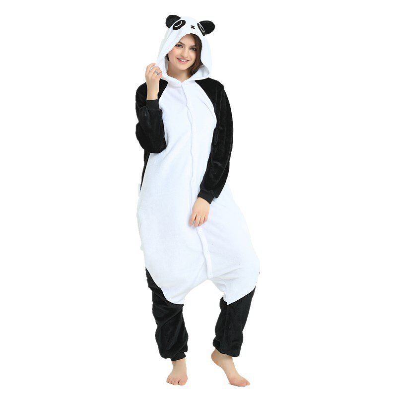 Cute Kungfu Panda Kigurumi Soft Flannel Cartoon Onesie Warm Panda Night-suit Set Cosplay Jumpsuit Party Sleepwear For Halloween (6)
