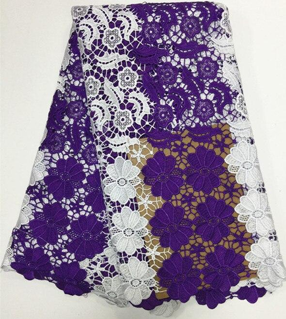 Популярные африканские гипюр кружевного текстиля с niec вышивка Африканский шнур сетки материал для шитья EWP34 (5 ярдов/серия)