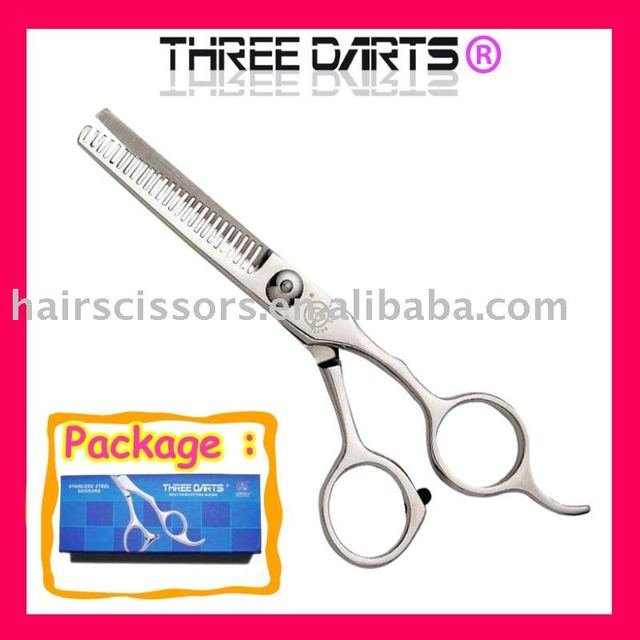 THREE DARTS brand free shippment student using stainless steel scissors (5.5inch,26teeth) TD-D25526
